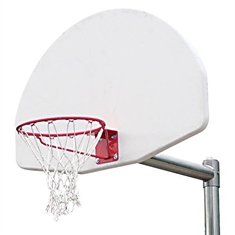 Outdoor Basketball System - 4 1/2'' Heavy Duty - 1'' Thick - Adjustable Height - 36'' x 54'' Cast - Aluminum Backboard