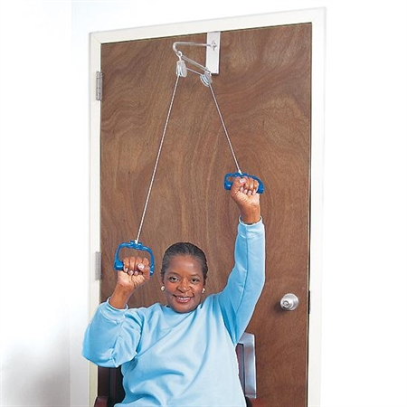 Over - the - Door Pulley Set - Special Needs Therapy Fitness Machines