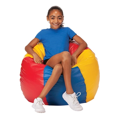 Multicolored Beanbag Chair - Large - Kids Special Needs Bean Bag Chairs