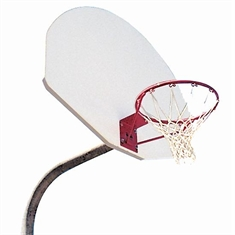 "Outdoor Basketball System - 4 1/2"" Heavy Duty - Fixed - Height - White - 36"" x 54"" Cast - Aluminum Backboard"
