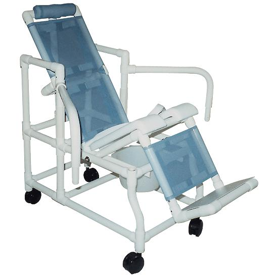 tilt - in - space mobile shower chair - large | flaghouse