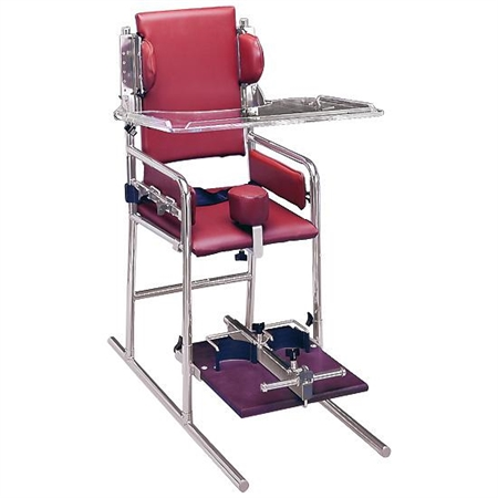 Ultra Adjustable Chair - Adolescent's Clear Acrylic Tray - Kids Special Needs Classroom Chairs