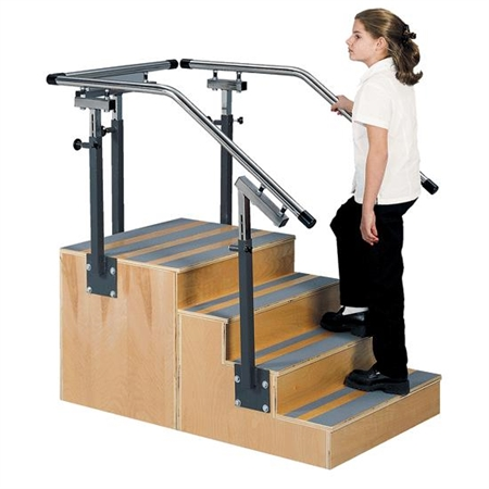 THERAGYM Adjustable One - Sided Training Stair - Kids Special Needs Clinic Steps And Stairs