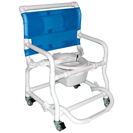 Extra - Wide Deluxe Shower / Commode Chair - Special Needs Bathing Aids