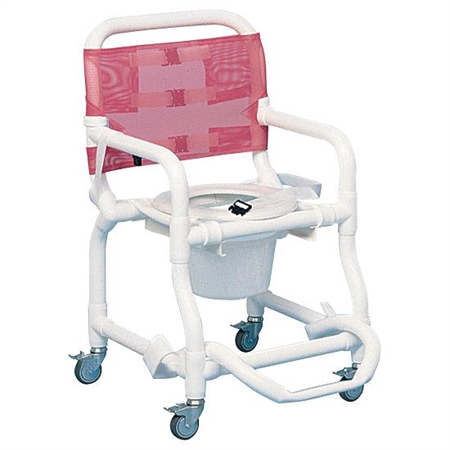 Wheeled Deluxe Shower Chair & Commode - Kids Special Needs Bathing Aids