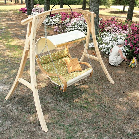 Roman Arc Cypress Swing Stand Flaghouse