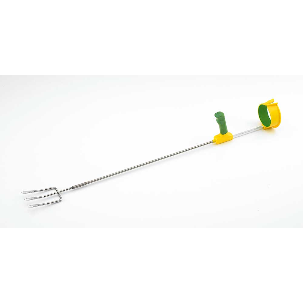 Ergonomic Tool Supports : Long reach ergonomic tool fork flaghouse