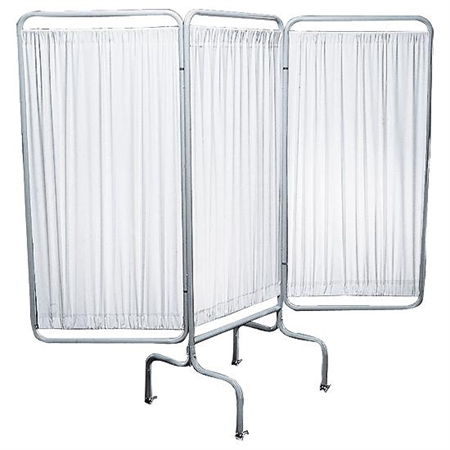 Privacy Screen - Three Panel with Casters & Rubber Feet - Kids Special Needs Clinic Essentials