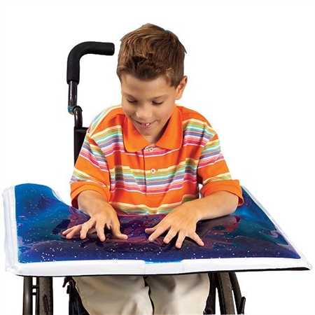 Glitter Gel Wheelchair Tray - Kids Special Needs Textures