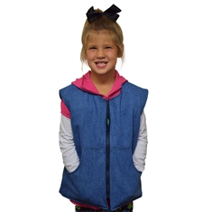 SENSORYCRITTERS Girl's Denim Style Weighted Vest