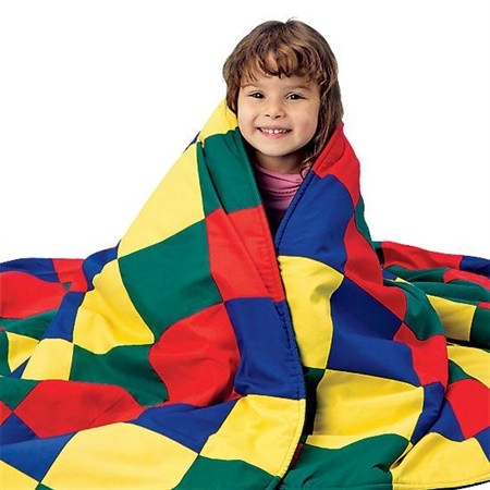 Bold Primary Colors Weighted Blanket