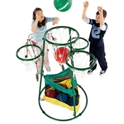 Adjustable Multi - Ring Basketball Stand
