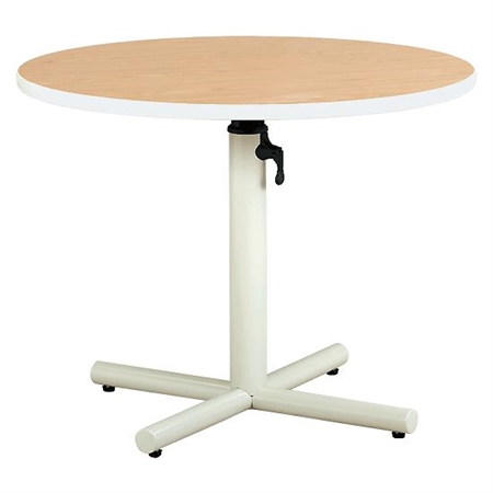 Round Gas - Spring Adjustable Table