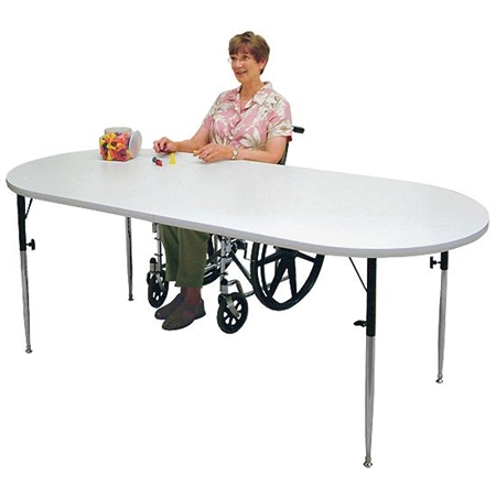 Oval Extension Work and Activity Table - Kids Special Needs Accessible Tables