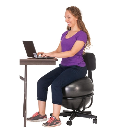 Office Fitness Ball Chair With Backrest Ball Chair | Exercise Balls | Exercise & Fitness | The Solutions You ...
