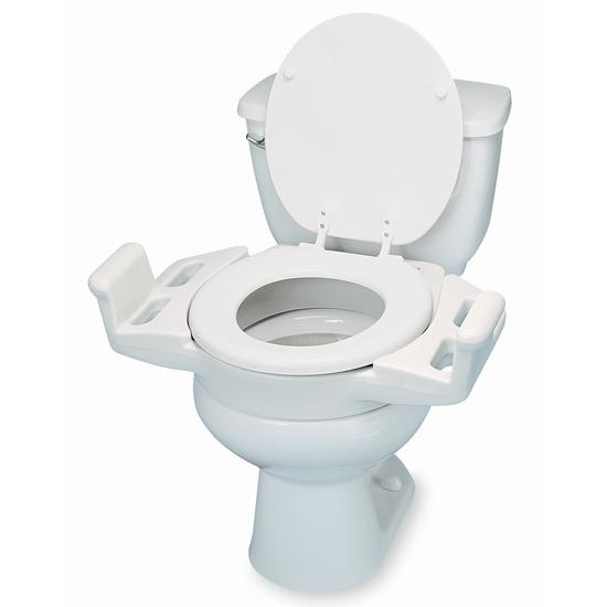 elevated push up toliet seat with armrest flaghouse