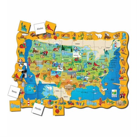 Puzzle Double with Map - Kids Special Needs Puzzles