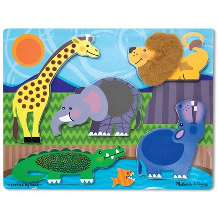 Tactile Puzzles - Zoo Animals - Kids Special Needs Puzzles