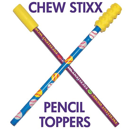 Chew Stixx Pencil Toppers - Textures - Kids Special Needs Sensory Integration Oral Motor Equipment