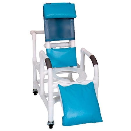 Reclining Shower Chair/Commode Seat - Kids Special Needs Bathing Aids