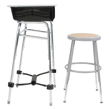 "Complete Standing Desk Kit with stool 7/8"" dia."