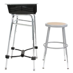 "Complete Standing Desk Kit with stool 1"" dia."