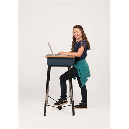 Standing Desk Conversion Kit with Foot Fidget 1' dia. - Kids Special Needs Accessible Tables