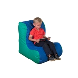 High Back Lounger- Single- Blue/Green