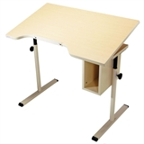 Adjustable Tilt Desk with Storage