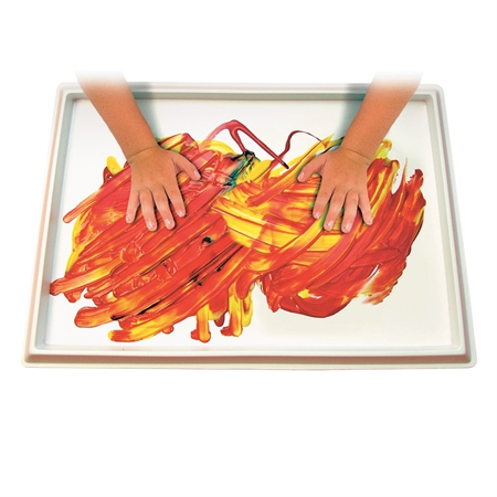"Finger-paint ""No Mess"" Tray"