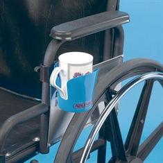 Clamp-on Wheelchair Drink Holder