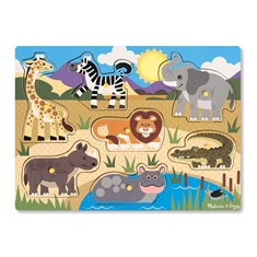 Peg Puzzles Safari