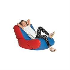 High Back Lounger- Single- Blue/Red
