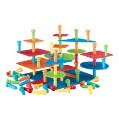 Tall Stackers™ Pegs Building Set