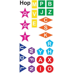 Fit & Fun™ Hop Letters and Shapes™ Super Stickers™
