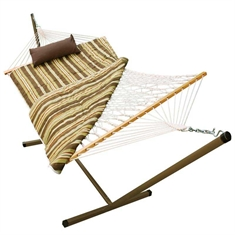 12' Hammock with Stand - Tan Stripe