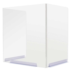 "Classroom HInged-Edge Desktop Barriers - 18""Wx14.5""Dx20""H"