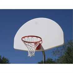 "Outdoor Basketball System - 3 1/2"" Tough Duty - 1"" Thick - Fixed Height - 36"" x 54"" Cast - Aluminum Backboard"