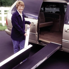 "EZ - Access Folding Ramp - 35 1/2"" x 16"" x 7"""