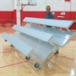 Tip & Roll Bleachers - 3 Rows -  15'L - Thumbnail 1