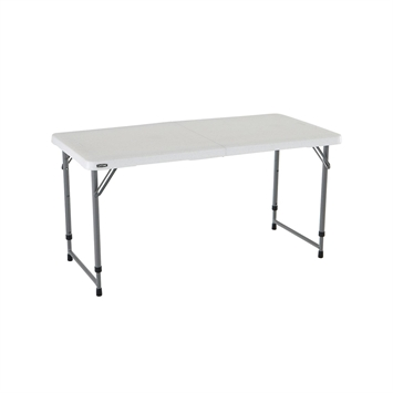 4 ft lifetime adjustable fold in half table flaghouse for Lifetime table pliante