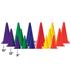 "Medium - Weight 15"" Six - Color Cone Set"