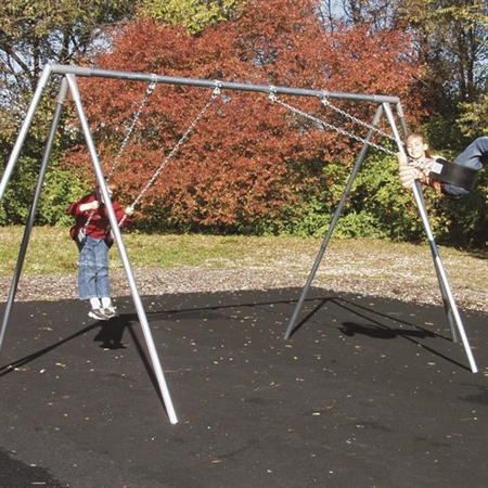 Outdoor Swing Set - Tri - Leg Frame - 2 Seats - Special Needs Swing Frames