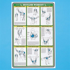 Self - Instruction Weight Training Poster - Shoulder Workout