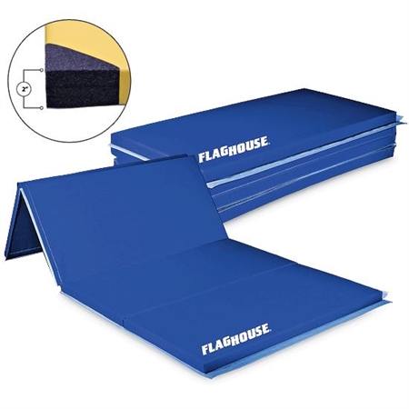 FlagHouse 2' Panel 2'-Thick Polyethylene Mat with 4-Sided Hook & Loop Fasteners - 6' x 12'