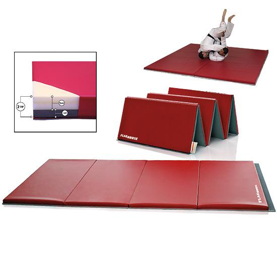 """Combo Mat: FlagHouse Premium 2 1/8""""-Thick Combo Mat With 4-Sided Hook"""