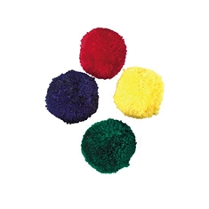 "4"" Colored Fleece Ball - Set of 4"