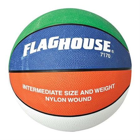 FLAGHOUSE Multi Series Rubber Basketball - Size 6