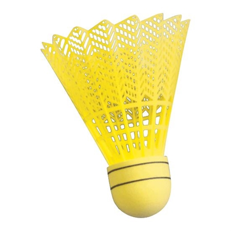YONEX Nylon Badminton Shuttlecocks - Yellow - Dz