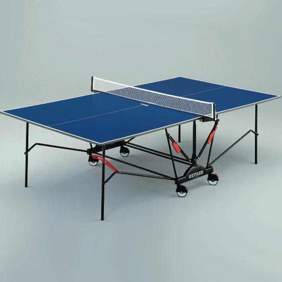Kettler top series blue top table tennis table flaghouse for Table kettler